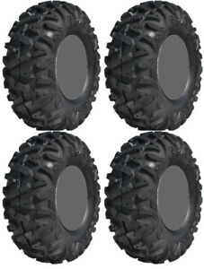 Four-4-GBC-Dirt-Tamer-ATV-Tires-Set-2-Front-27x9-12-amp-2-Rear-27x11-12