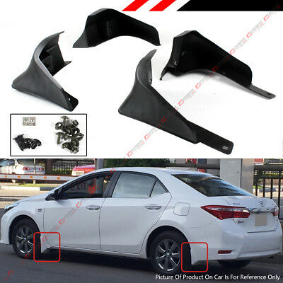4pcs Front /& Rear Splash Guards Mud Flaps for Toyota Corolla 2014-2017 Sedan