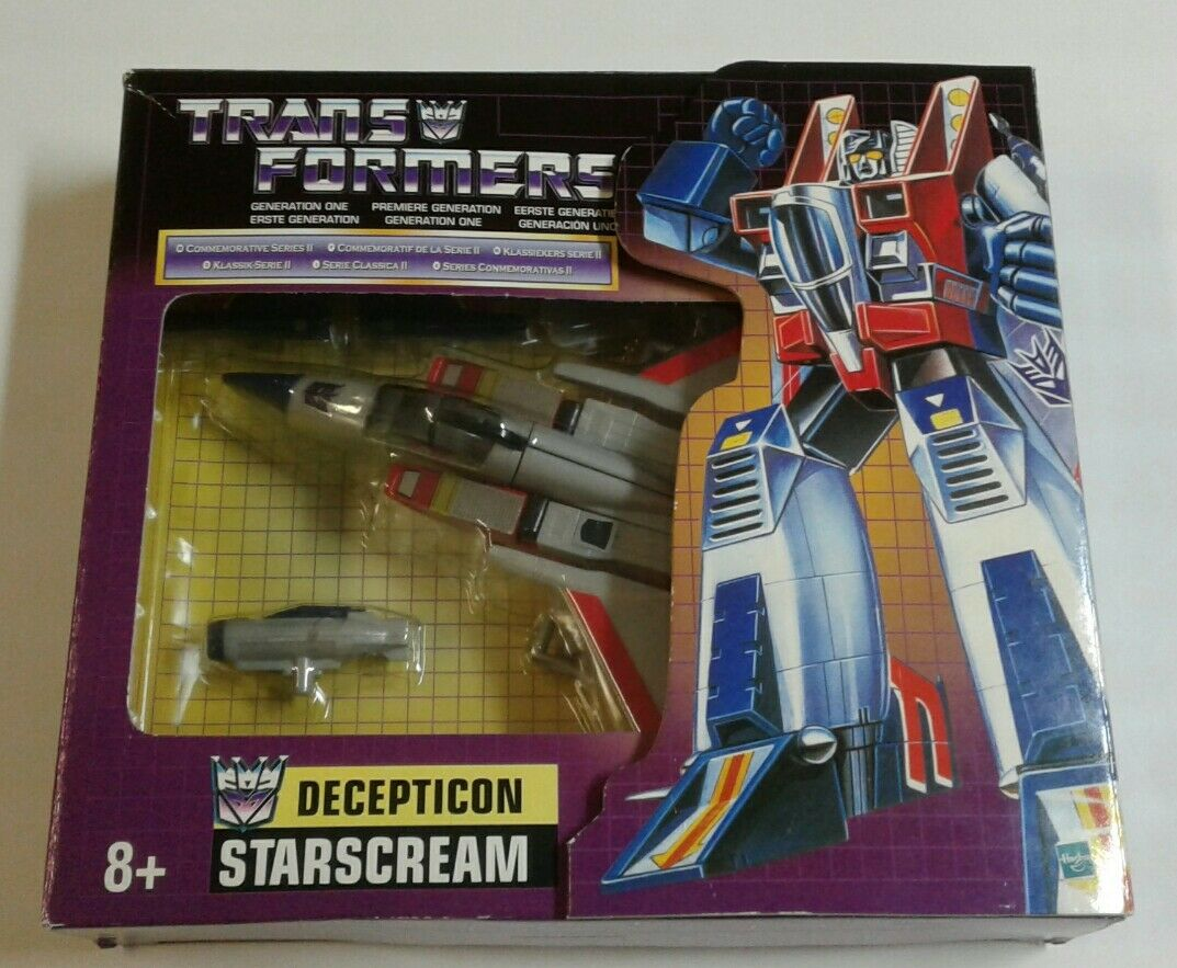 Transformers G1 Commemorative Series 2 Starscream Decepticon Seeker  COMPLETE