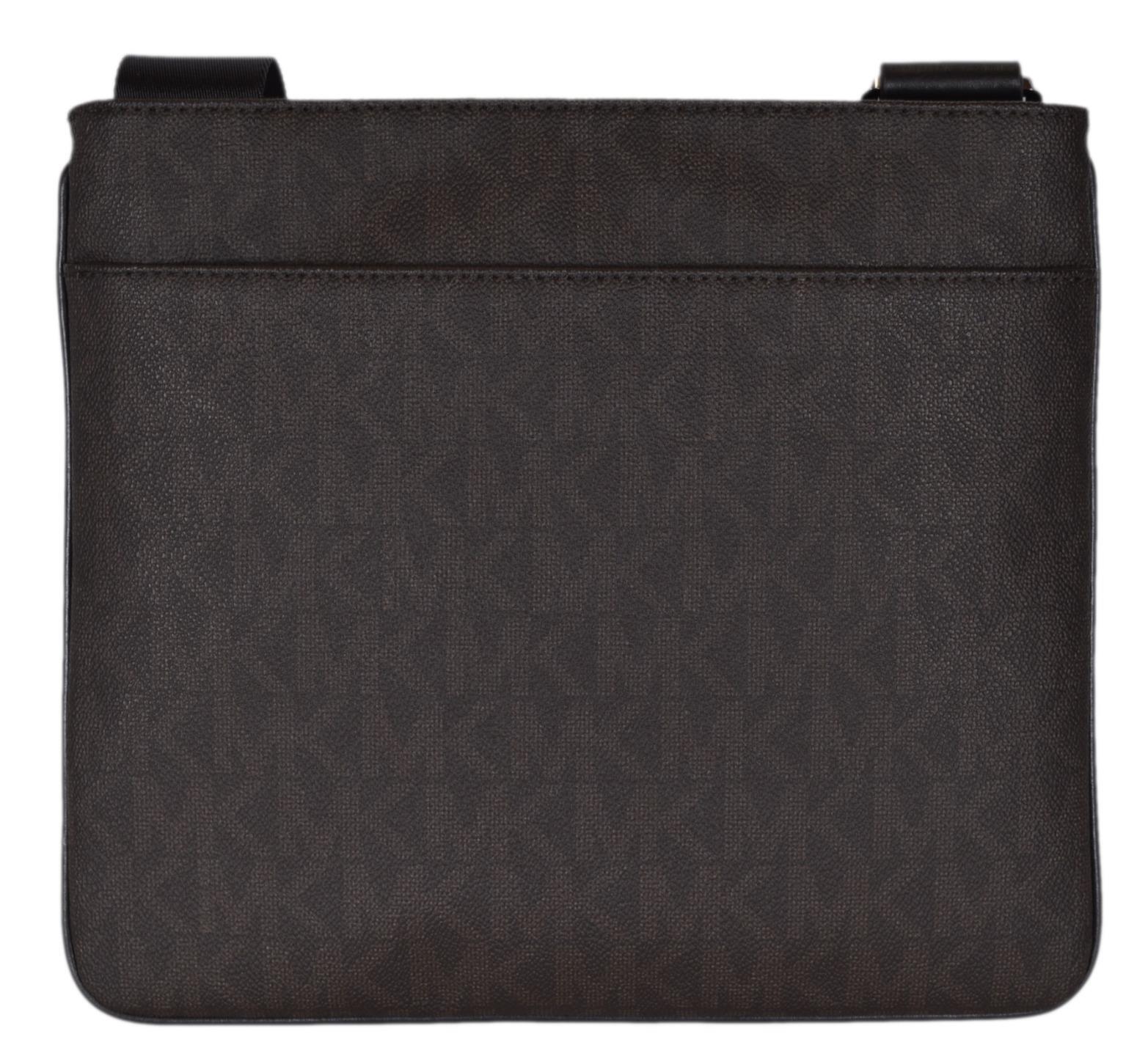 c8a00147eeb2 Michael Kors Men's Coated Canvas Logo Medium Flat Jet Set Messenger Bag for  sale online | eBay