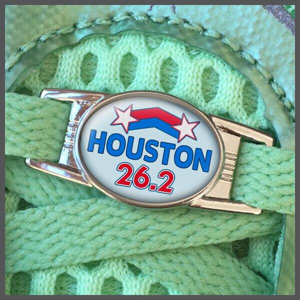 Houston 26.2 Marathon Runners Shoelace Shoe Charm or Zipper Pull