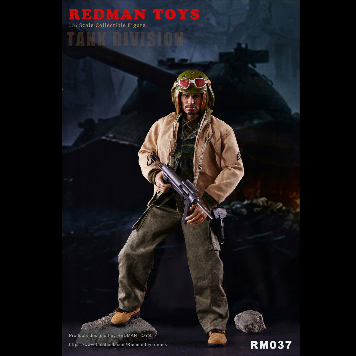 1 6 REDMAN TOYS RM037 Collectible Figure FURY TANK DIVISION