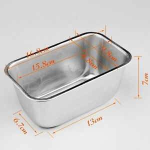Silicone bread loaf mold cake non stick bakeware baking pan oven mould - Aluminum Loaf 1l Rectangle Box Tin For Home Bread Cake