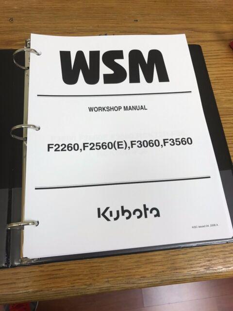 kubota f2260 f2560 e f3060 f3560 mower workshop manual ebay rh ebay com kubota f3560 wiring diagram Kubota Alternator Wiring