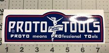 Proto Tools Red White Blue Los Angeles decal for vintage tool box  6 1/4? Long