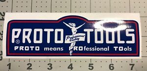 Proto-Tools-Red-White-Blue-Los-Angeles-decal-for-vintage-tool-box-6-1-4-Long