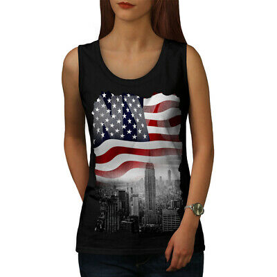 City Fit Lifestyle Sports Shirt Wellcoda New York Night Life USA Mens Tank Top