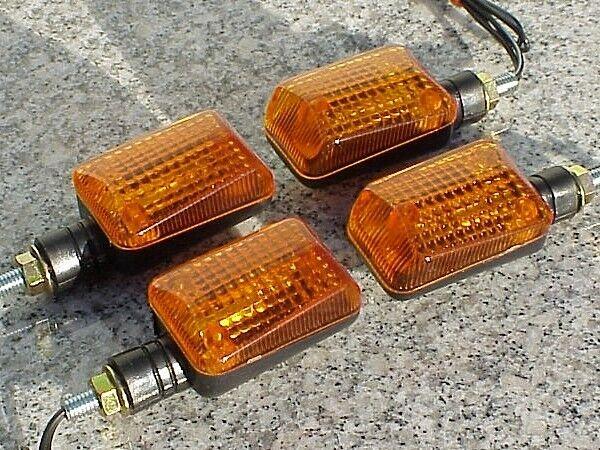 4X Amber LED Turn Signals Brake Light For Yamaha XS 360 400 500 650 750 850 1100