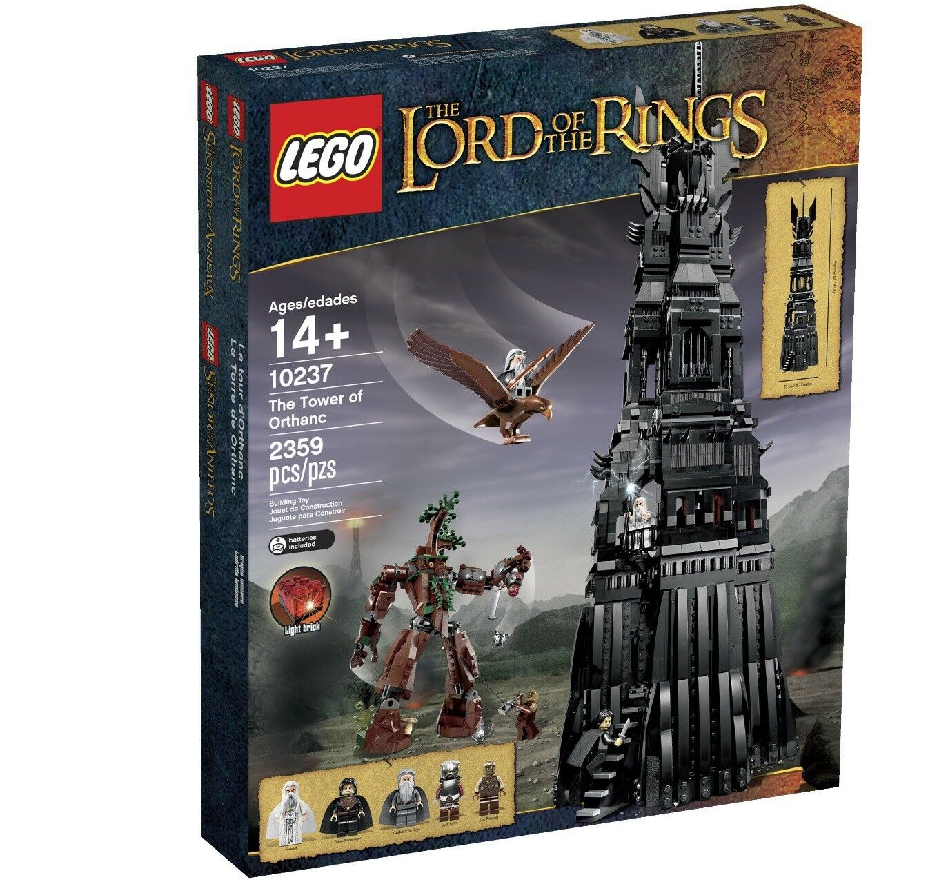 LEGO Lord of The Rings 10237 Tower Of Orthanc  nuovo Sealed Retirosso  in vendita online