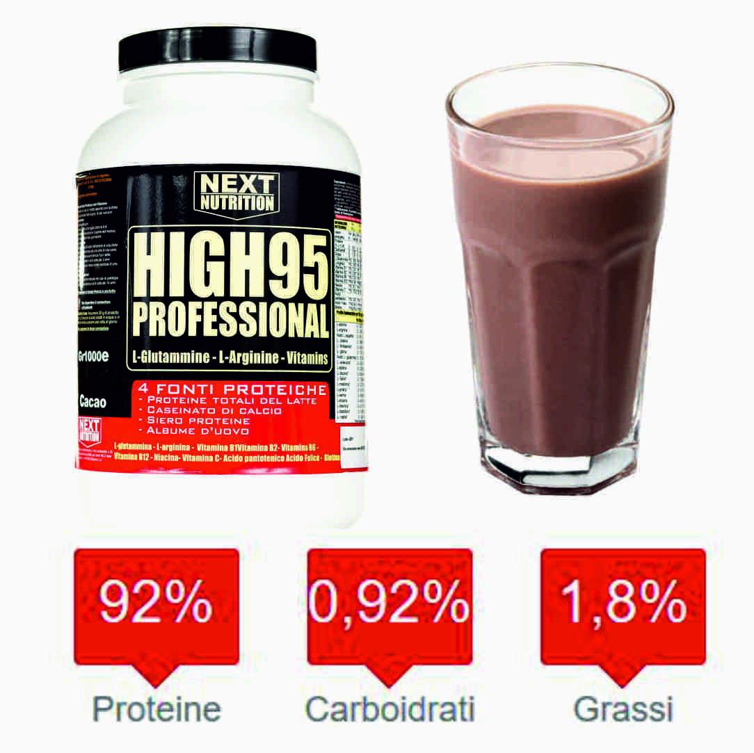 Proteine 90 % 4 fonti Lento Rilascio Aumento Massa Muscolare Cioccolato gr 3000