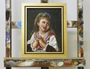 Baroque-Painting-Canvas-Children-Handmade-Frame-Oil-Painting-Pictures-G96132