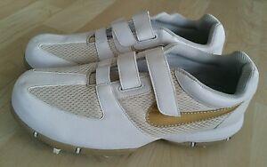 Nike 314904-171 SP 3.5 Lite Golf Gold Cleats Sneaker Shoes Women