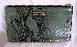 Vert A minority Sac Python Main Hand Cuir Leather Pochette Bag Z6qwpaq