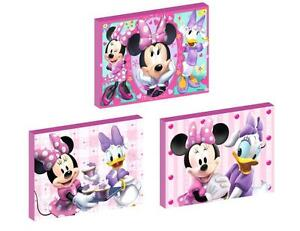 3 X Minnie Mouse And Daisy Duck Canvas Art Blocks Wall Art Plaques