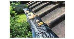 Rete griglia per protezione grondaia foglie detriti con 15 for Rete con foglie finte
