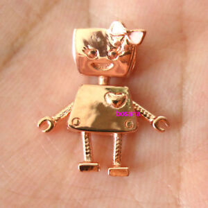 78ba4755f Silver and copper alloy Bella Bot Charm Rose Pink Fit European Charm ...
