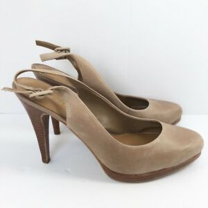 fa4771cfe Image is loading Nine-West-Nude-Slingback-Pump-Size-8-5-