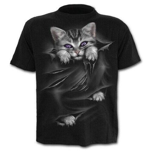 Women Men T-Shirt 3D Print Sharp Claws Cat Tore Clothing Short Sleeve Tee Tops