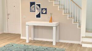 Tavolo-per-cucina-e-ingresso-consolle-allungabile-da-3-metri-colore-Bianco