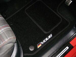 Black-Car-Floor-Mats-To-Fit-Volkswagen-Passat-TDI-2007-2015-VDUB-Logos