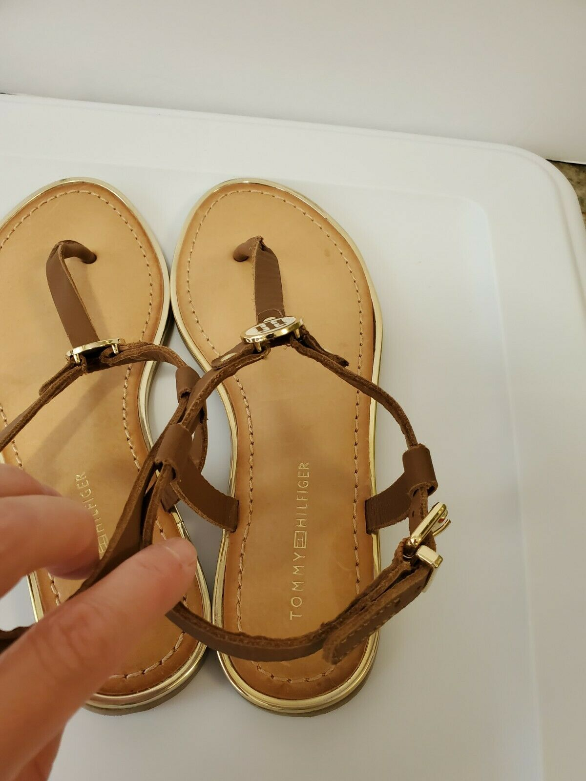 Tommy hilfiger women Brown Leather Sandals  - image 3