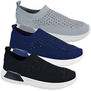 Inspirar Cósmico contrabando  Damas Mujeres Running Fitness Gimnasio De punto Calcetín Diamante Deportes  Zapatillas Zapatos Siz | eBay
