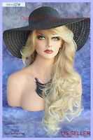 Long Wavy Heat Safe Skin Top Wig Blonde T27.613 Incredible Sensual Style 220