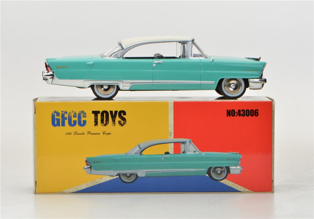Green GFCC TOYS 1 43 1956 1956 1956 Lincoln Poemiere Coupe  Alloy car model b87e31