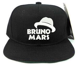BRUNO MARS SNAPBACK SNAP BACK CAP HAT FOR FANS FEDORA LOGO SOUVENIR ... 6e8d0af16b4
