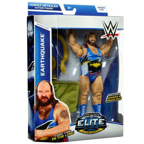 WWE EARTHQUAKE FLASHBACK FIGURE ELITE 35 WWF WRESTLING SNAKE DAMIEN FIRST