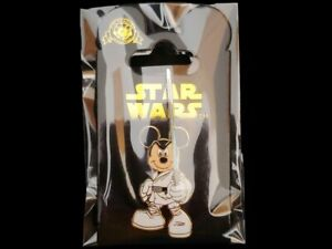 Disney-Pin-DLRP-Mickey-Mouse-as-Jedi-Luke-Skywalker-Star-Wars-NOC