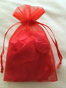Bag of Roses Petals Grey Valentines Day Rose Confetti Romantic 50 Shades Gift