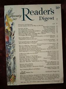 Readers Digest January 1967 Dwight D Eisenhower John Gunther Peru Gordon Gaskill