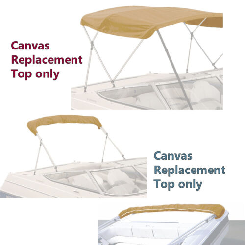 "BIMINI TOP BOAT COVER CANVAS FABRIC TAN W//BOOT FITS 3 BOW 72/""L 36/""H 91/""-96/""W"