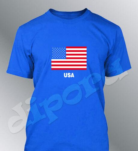 Camiseta bandera de EUA hombre Estados Unidos bandera USA America Unido States