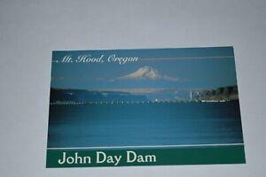 1-Color-Post-Card-OREGON-COLUMBIA-RIVER-John-Day-Dam-55