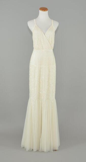 0626f6eaec64 J.CREW 100 Harper Beaded Mermaid Wedding Ball Prom Gown 4 Ivory Dress B6655
