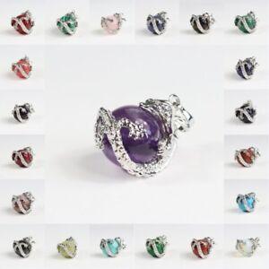 Опалит бирюза Агат серебро дракон обернуть круглый шар подвеска бусина подходит ожерелье