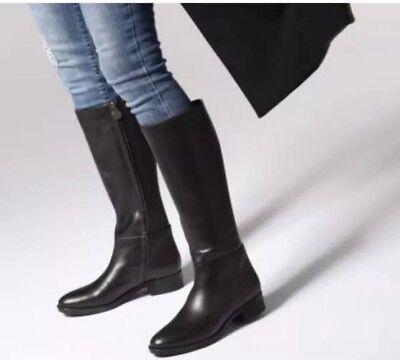 Geox Womens D FELICITY Black Tall Knee