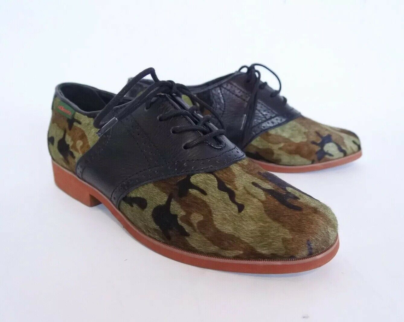 G.H. Bass & Co. Thea 1 Camo Black Pony Hair & Leather Women's 6.5