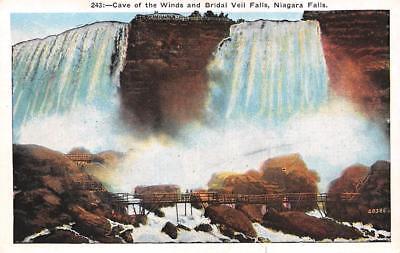 NIAGARA FALLS, NY New York CAVE OF THE WINDS~BRIDAL VEIL ...