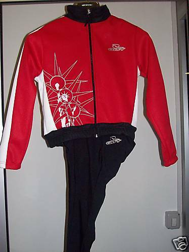 Set Wintry cycling GIST 2pz BABY IN RED
