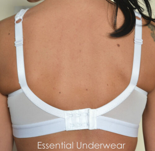 ALL SIZES £12.99 2 X SHOCK ABSORBING HIGH-IMPACT SPORTS BRA in BLACK or WHITE