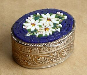 Small-vintage-mosaic-pill-box-flower-decorations-width-is-35mm