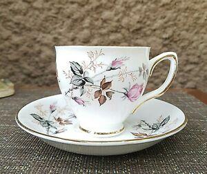 Duchess-Pink-Roses-Bone-China-Tea-Cup-amp-Saucer-Set-England-Beautiful-836
