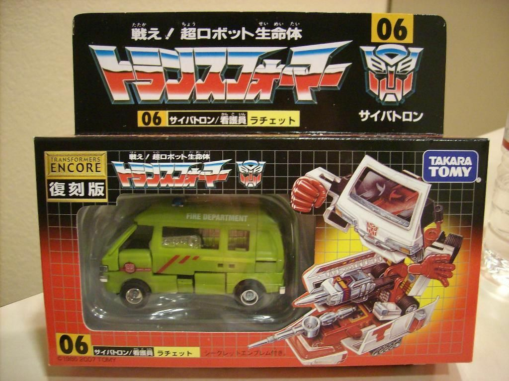 Transformers Encore 06 Ratchet Green Limited Edition MISB