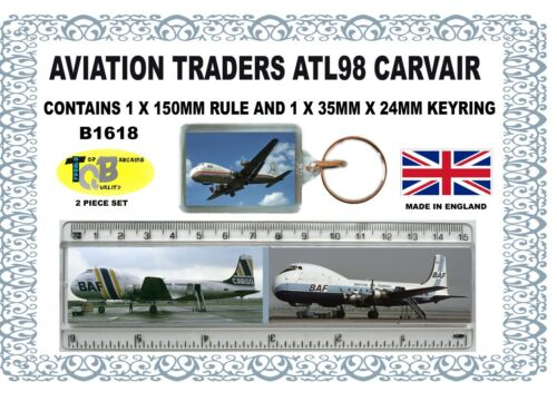 ATL98 CARVAIR 150MM RULE AND 35MM X 24MM KEYRING 2 PIECE  SET B1618P