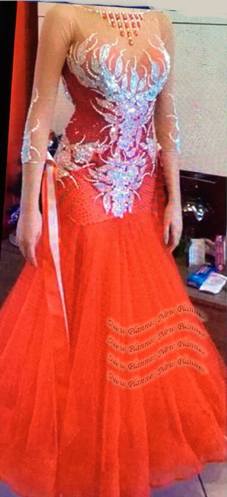 B7812 Women Ballroom Tango Waltz foxstep standard dance dress US 6 UK 8 Red