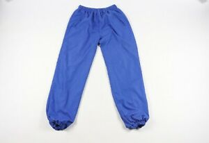 Vintage-90s-Avia-Mens-Small-Geometric-Striped-Print-Joggers-Jogger-Pants-Blue