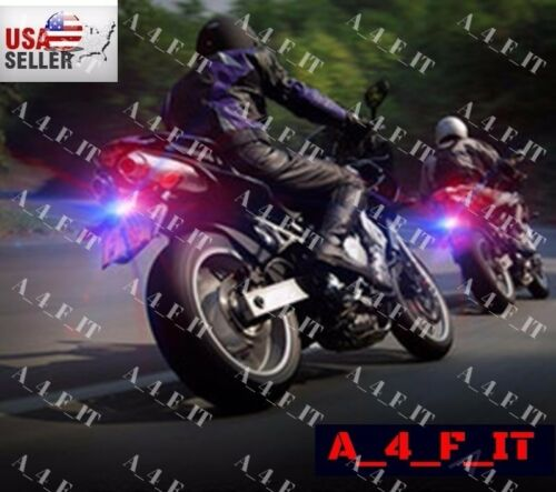 SMALL LED MOTORCYCLE TURN SIGNAL LIGHTS LICENSE PLATE FRAME BOLTS DUAL COLOR